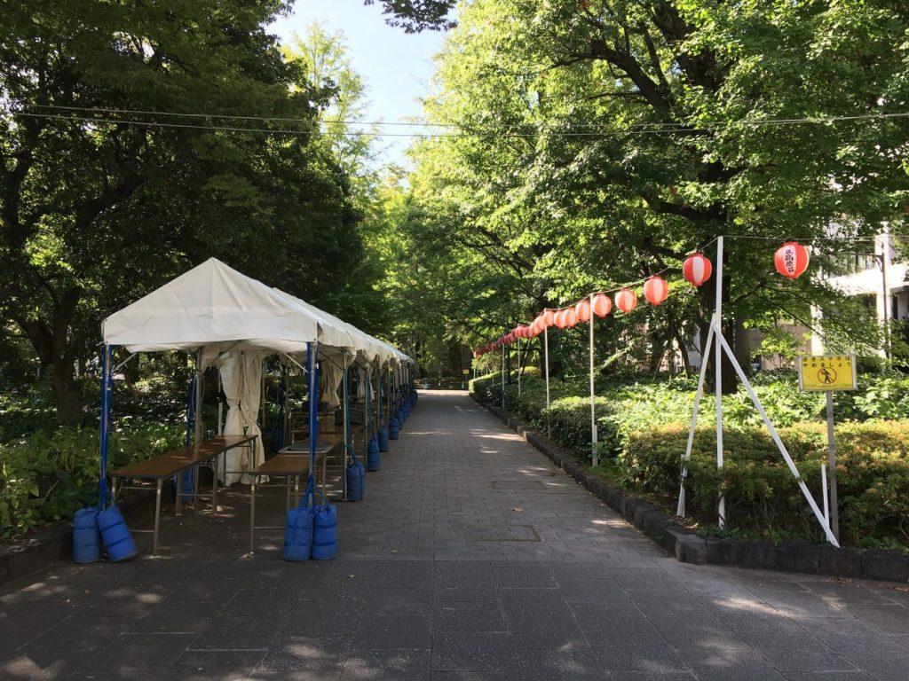 大江戸まつり盆踊りテント準備