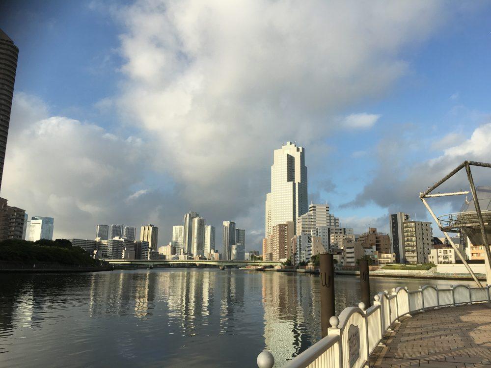 江戸港発祥地からの眺め