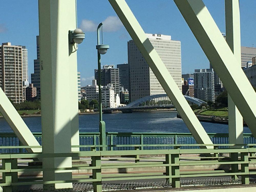 相生橋から永代橋を臨む