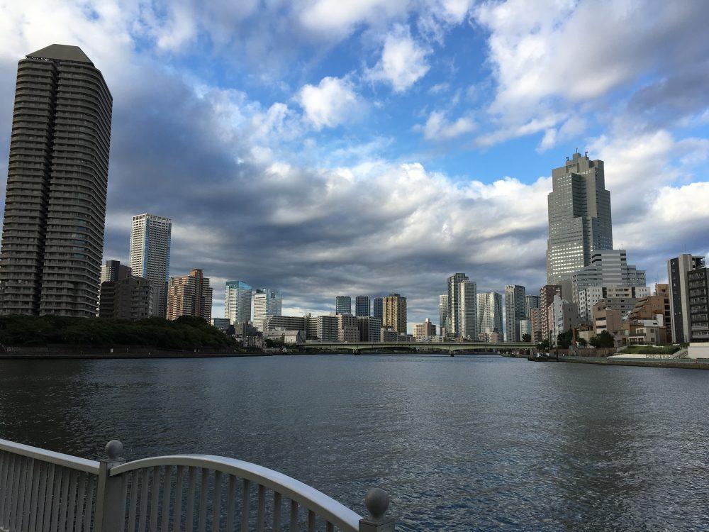 中央大橋から佃方面