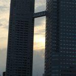 東京タワーとスカイツリー、佃大橋から両方見えました
