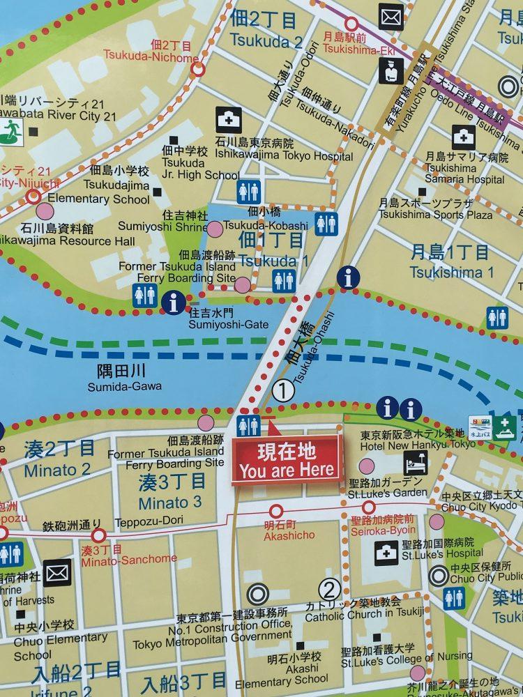 佃大橋地図