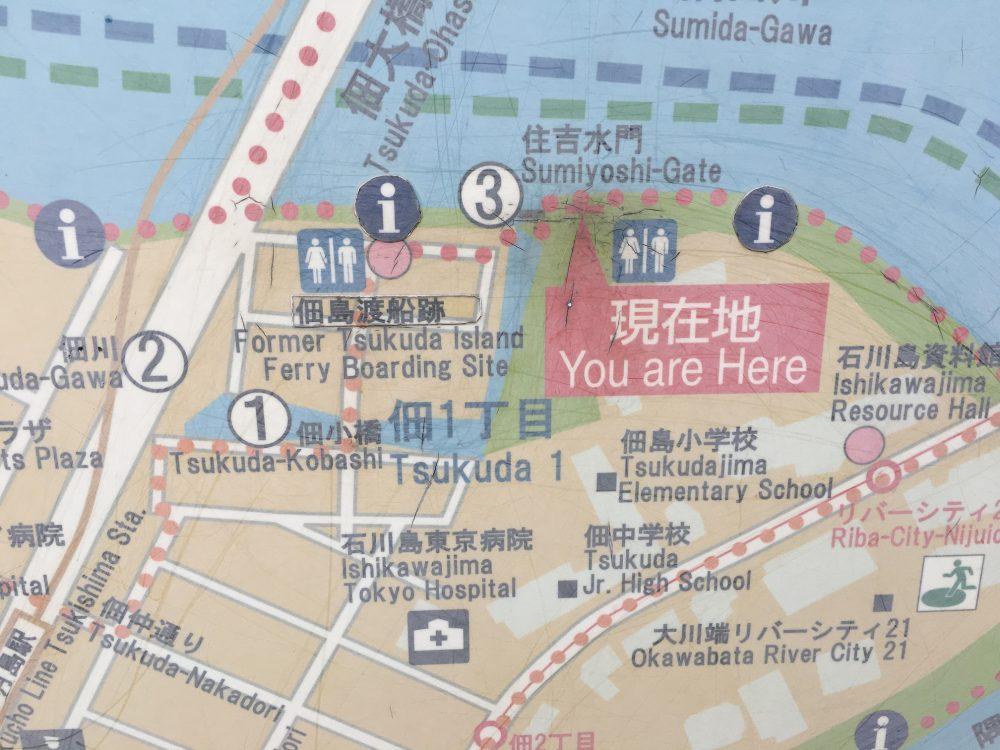 住吉水門地図