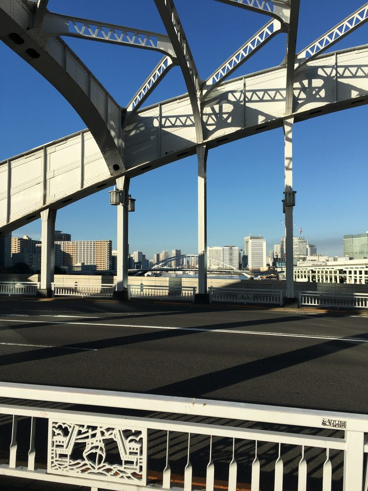 勝鬨橋さらに下流を臨む