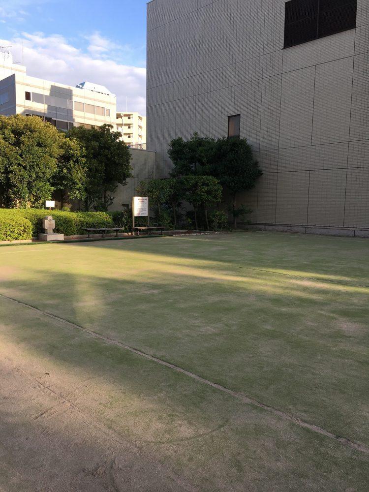 桜川屋上公園のゲートボール場